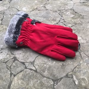 Ladies Insulated Gloves with Faux Fur Cuff M/M